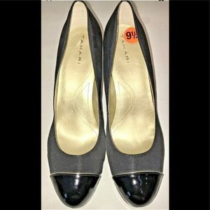 Tahari Back Leather Round Toe Heels Shoes 9.5